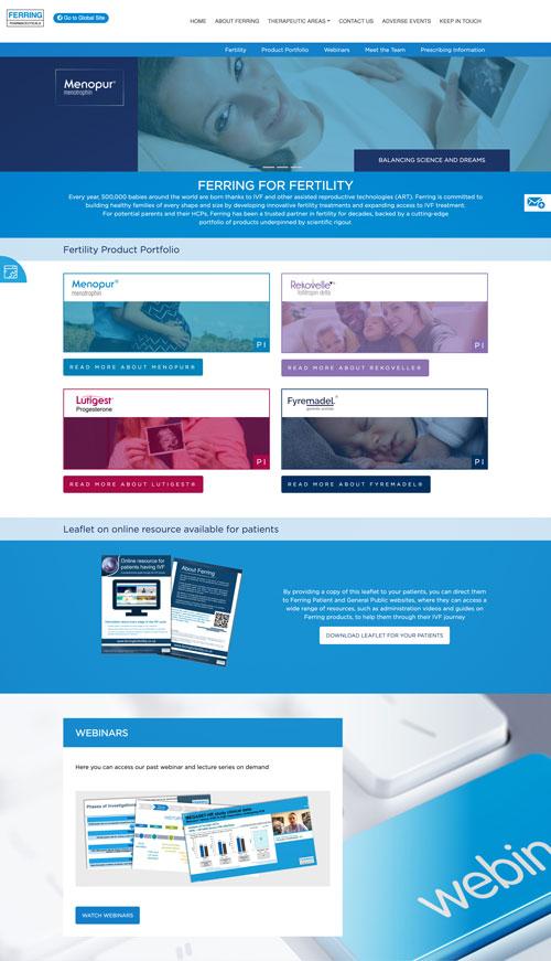 A website layout we've designed