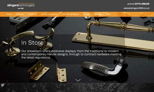 A website splash screenshot