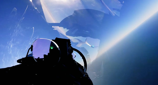 On board view from Eurofighter Typhoon