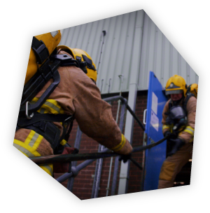 Firefighters training at BAE Systems