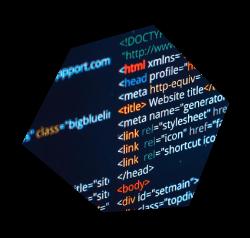 Image showing website code