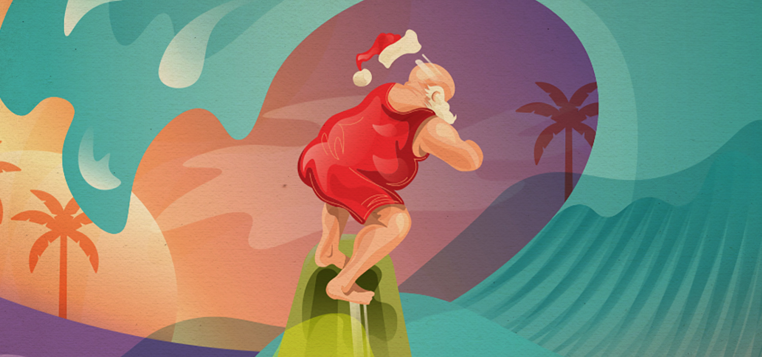 Christmas in July illustration