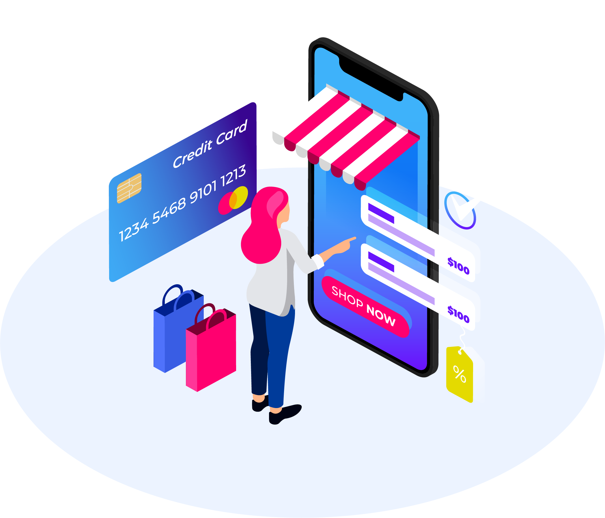 mobile commerce onectus illustration