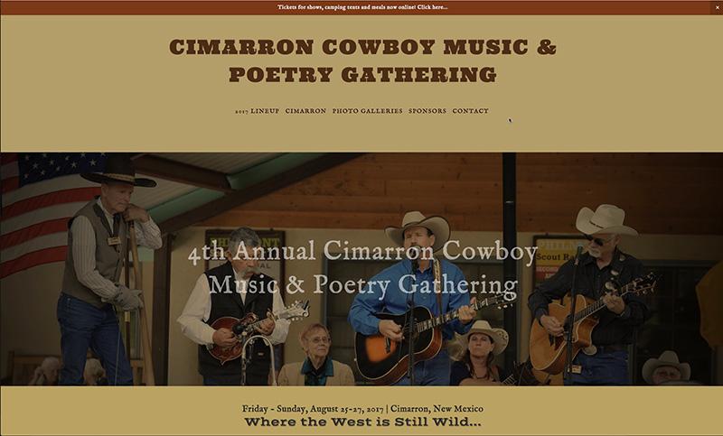 Cimarron Cowboy Music and Poetry website