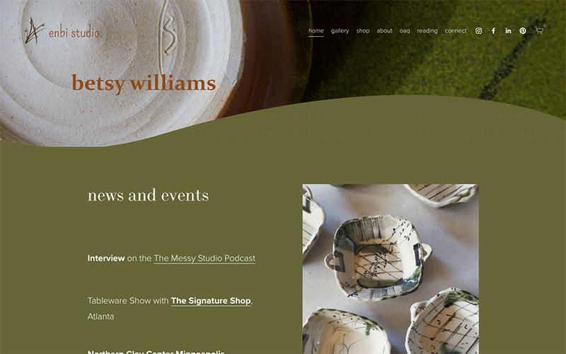 Betsy Williams' Enbi Studio website