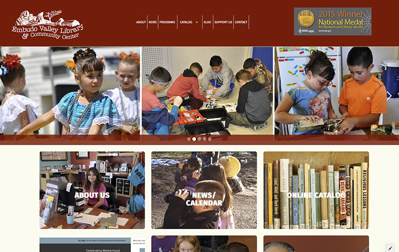 Embudo Valley Library website
