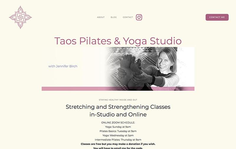 Taos Pilates website