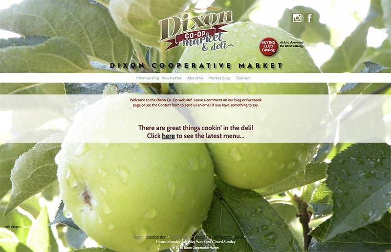 Dixon Cooperative Market website