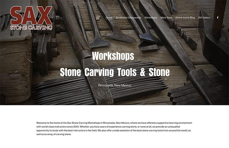 Sax Stonecarving website