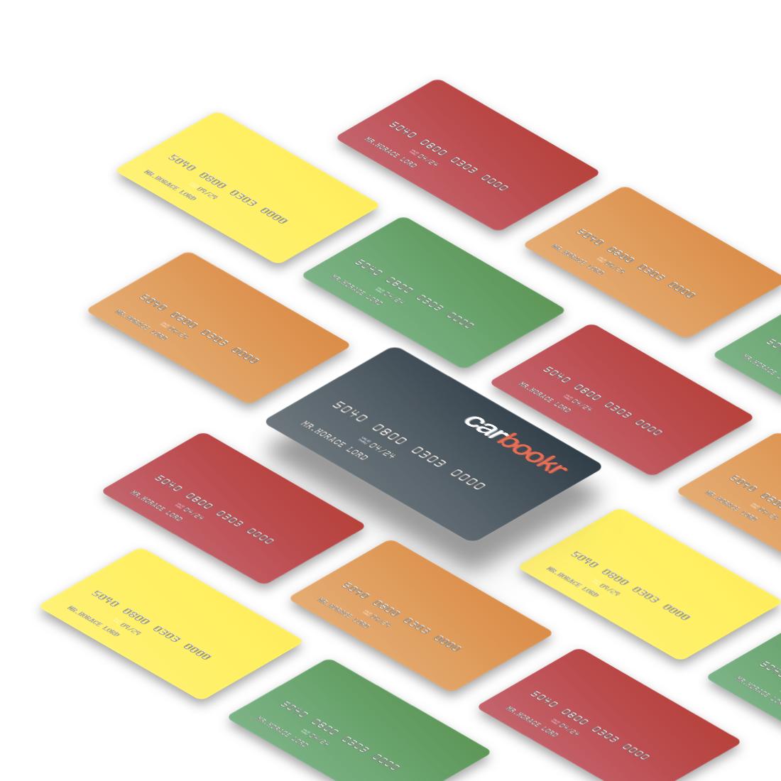 Cartes loueurs de différentes couleurs