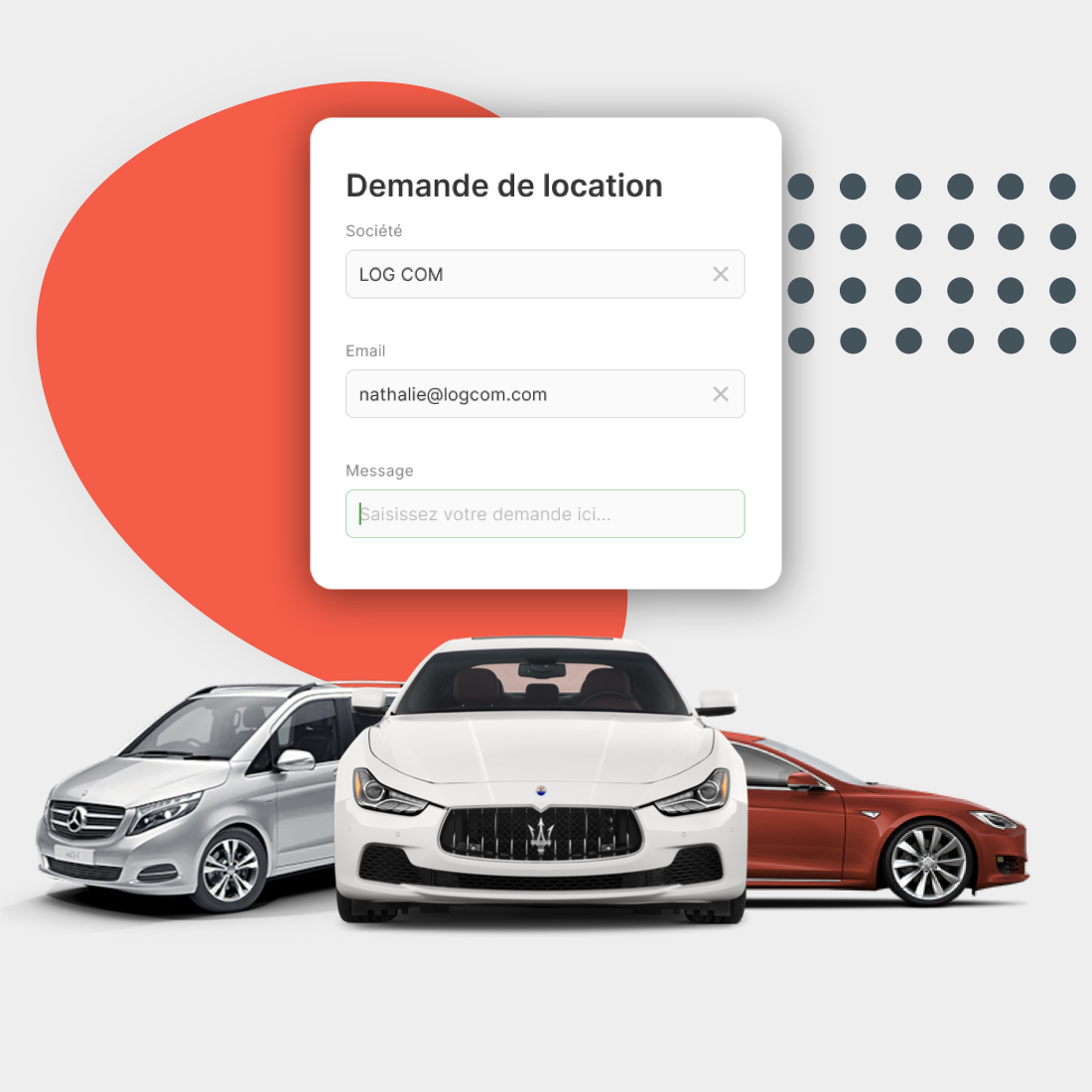 Exemple de voitures de luxe disponibles sur carbookr
