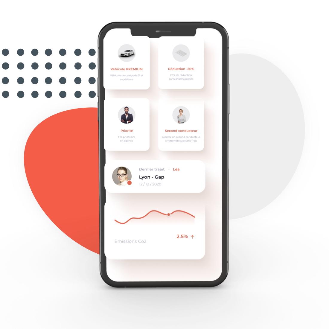 Captures d'écran de la solution Carbookr sur Ordinateur, tablette et smartphone