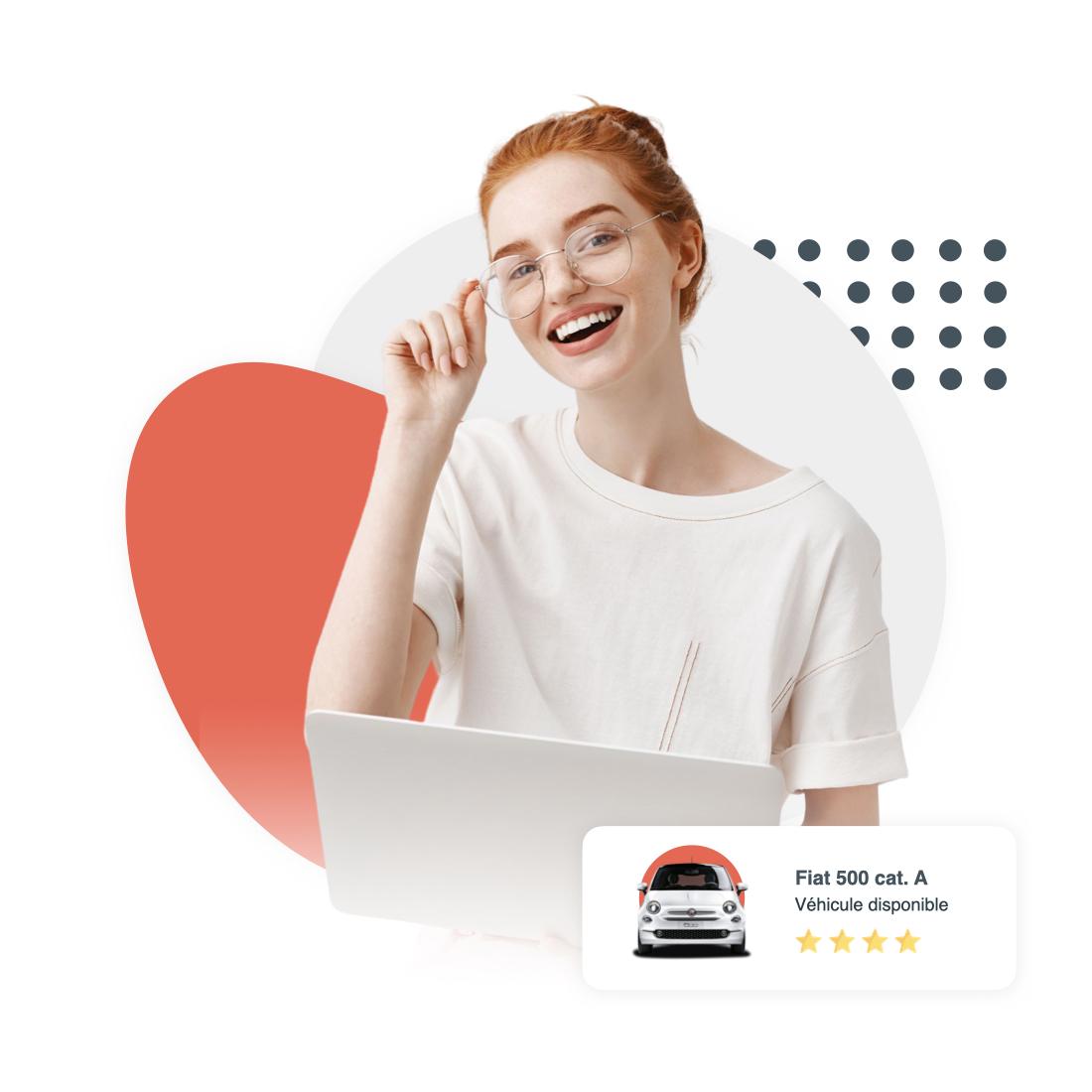 Jeune femme utilisant la solution Carbookr