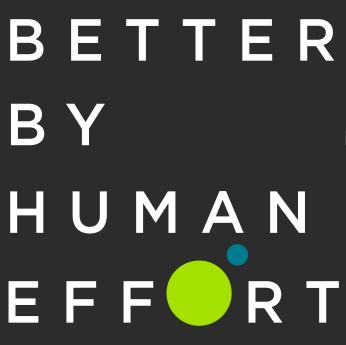 better by human effort logo