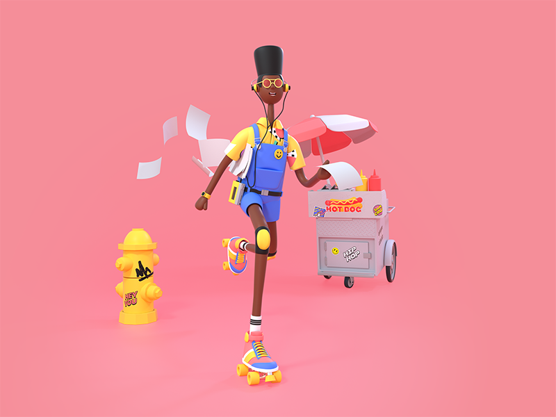 Back to the 90s 3D design