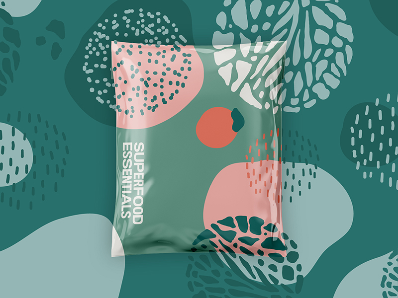 Superfood essentials packaging design