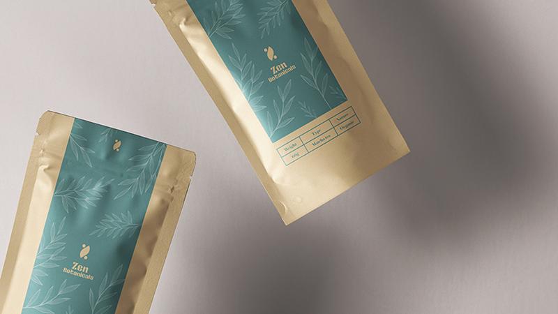 Zen botanicals tea packaging