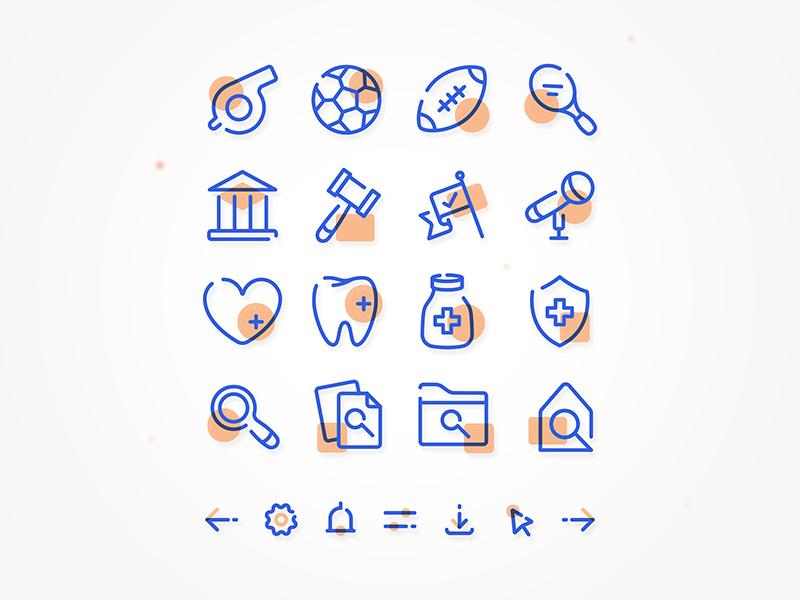 Duotone icon set