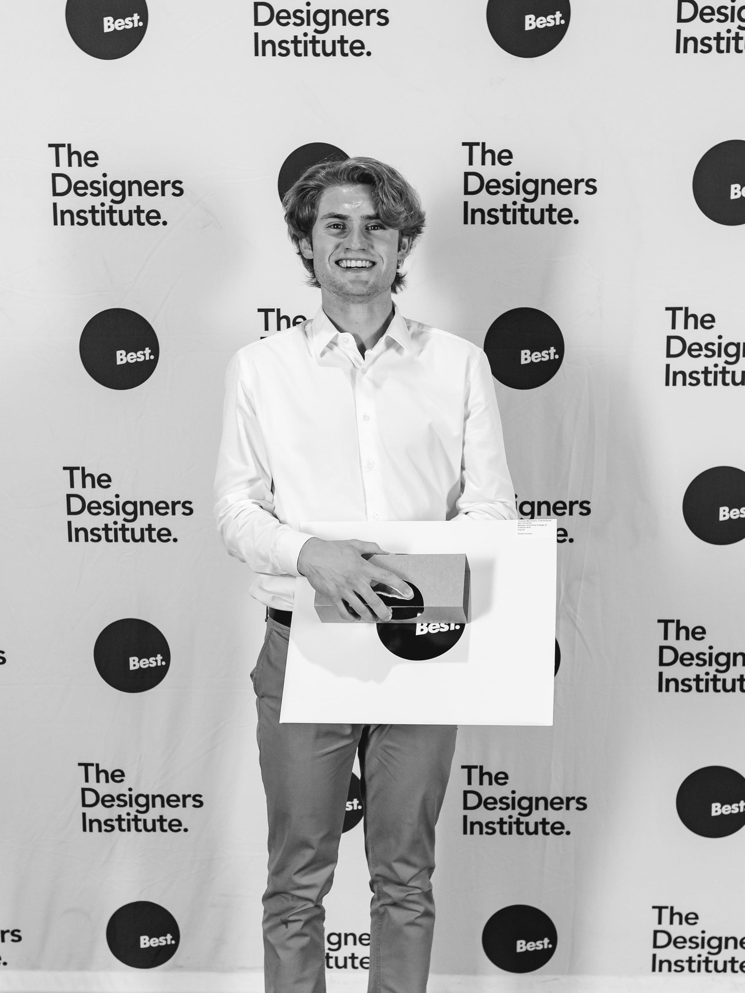 Thomas Mackisack winning Gold at the Best Design Awards 2020