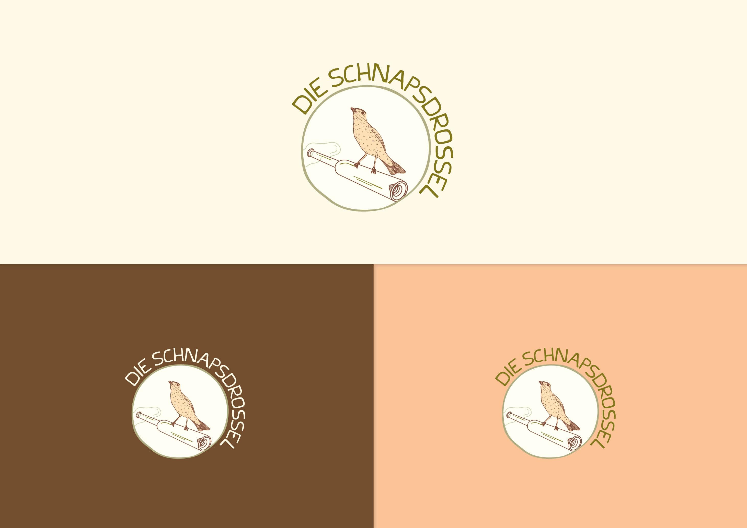 Die Schnapsdrossel Brand Identity (Logo) by Magdalena Weiss