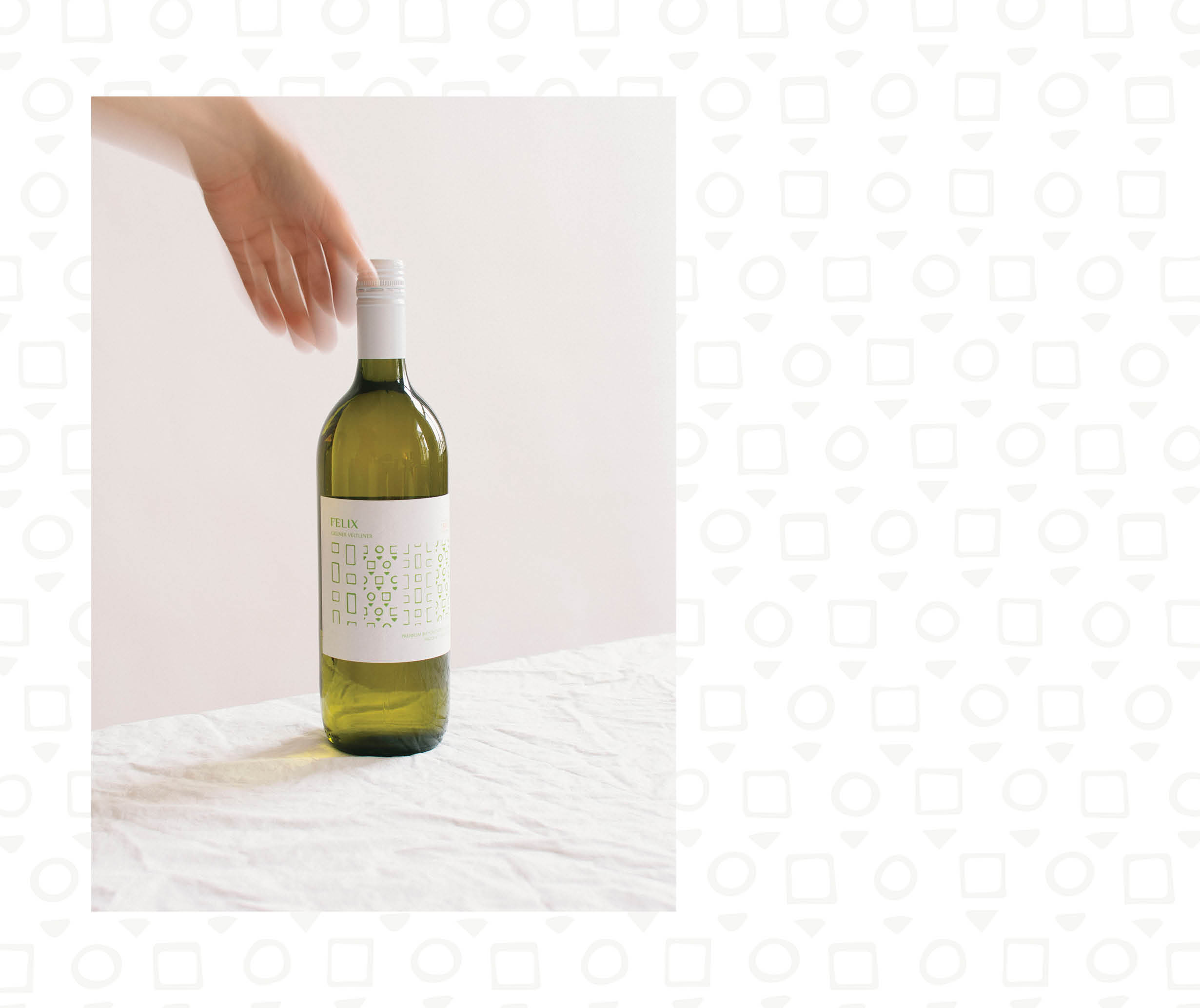 Felix Gruner Veltliner Wine Label Design by Magdalena Weiss (Winemonger Imports California)