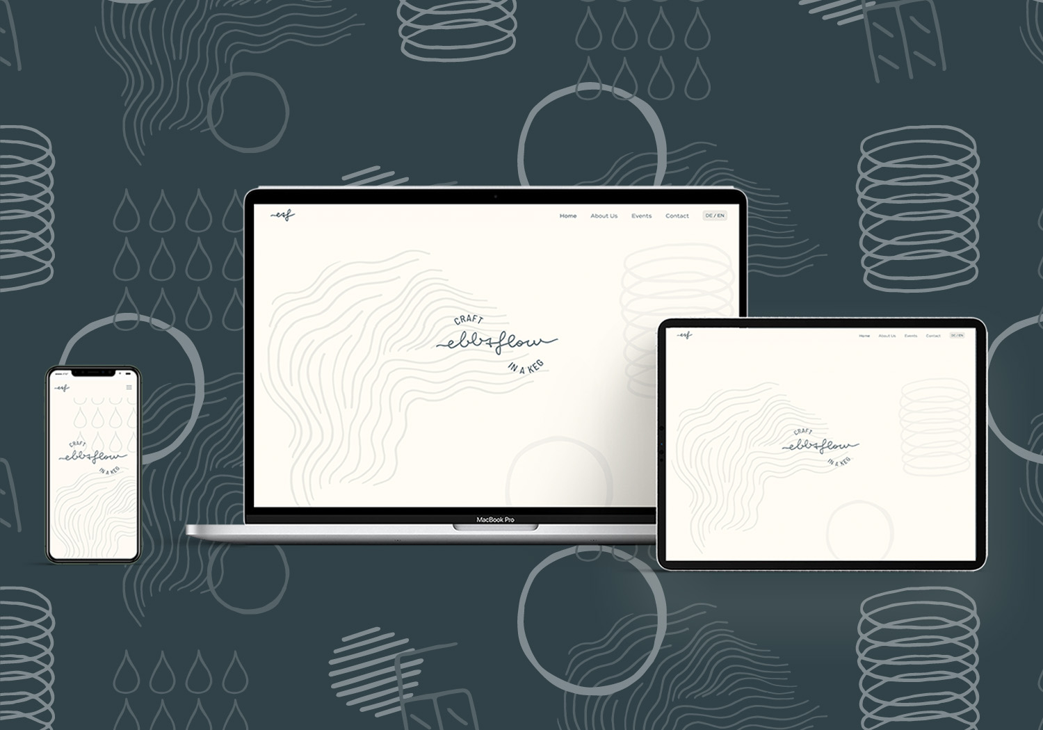 Ebb&Flow Keg - Web Design and Development by Magdalena Weiss