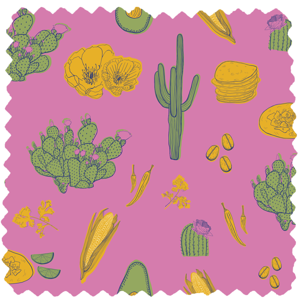 Pattern (Mexican Food Truck) by Magdalena Weiss