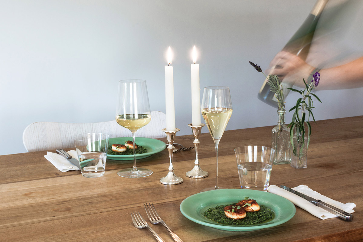 Food Photography (Zalto Wine Glasses) by Magdalena Weiss for The Manufactory (Winemonger)