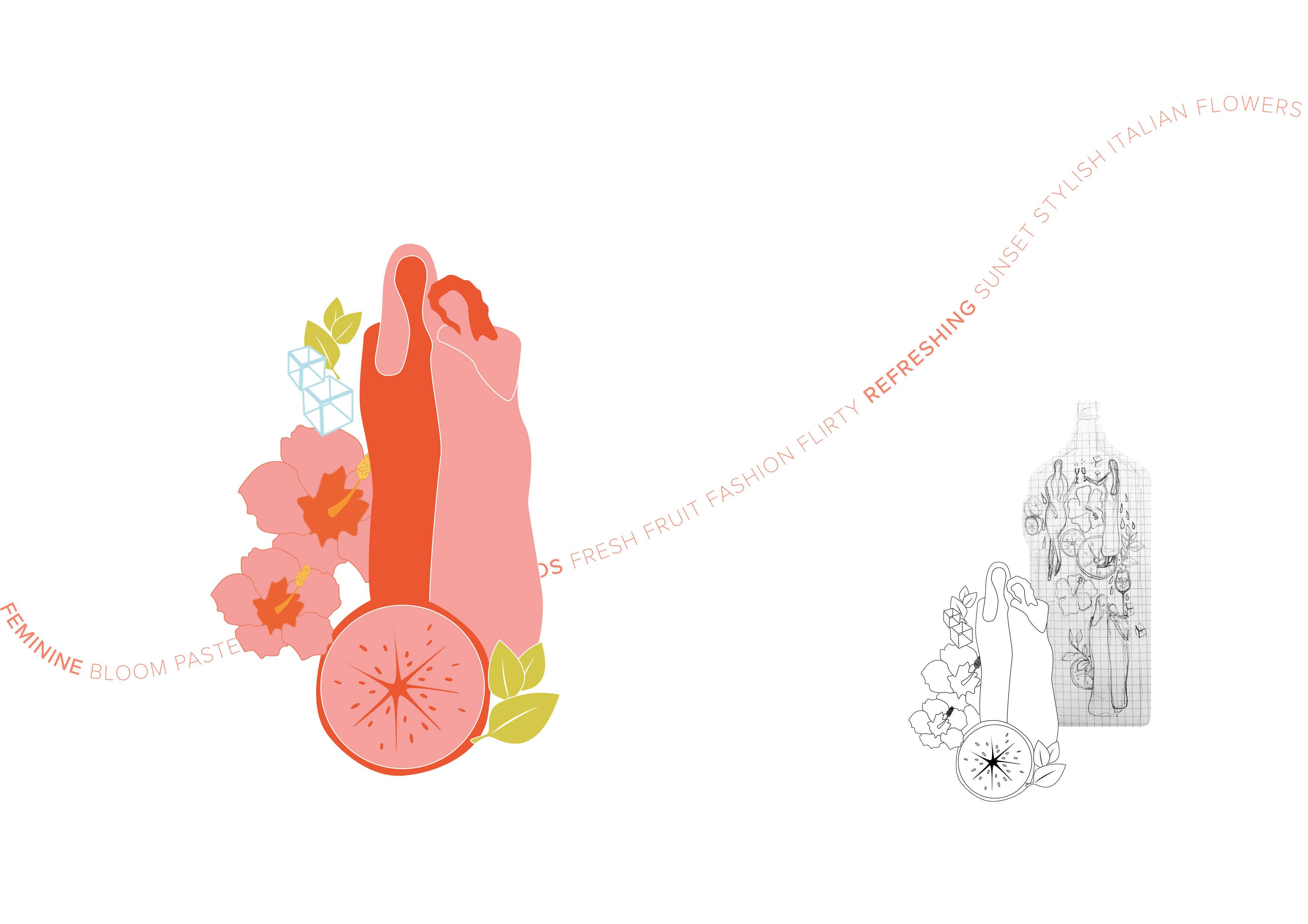 Ramazzotti Aperitivo Rosato Packaging Design (Process) by Magdalena Weiss