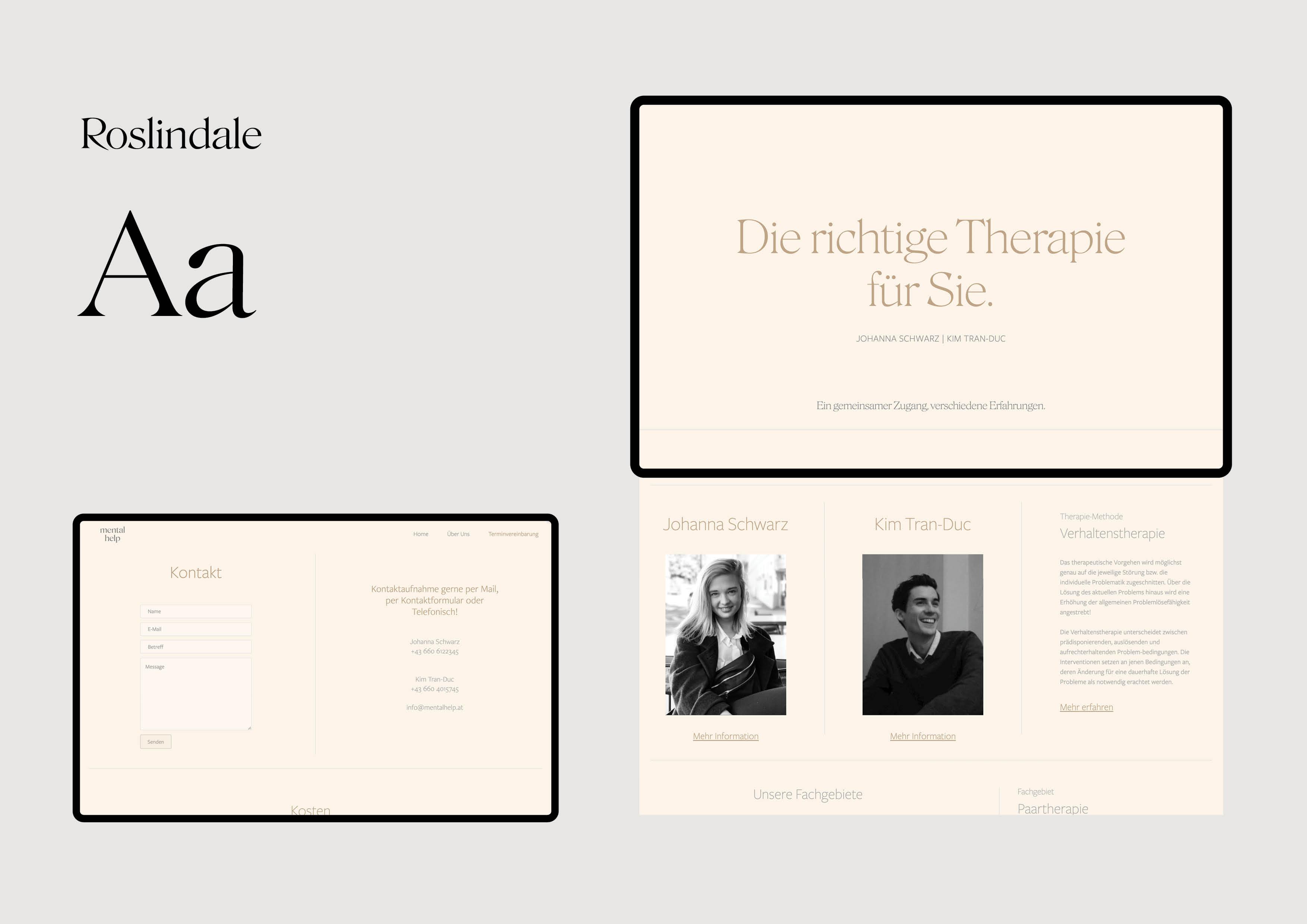 MentalHelp.at Website Design by Magdalena Weiss
