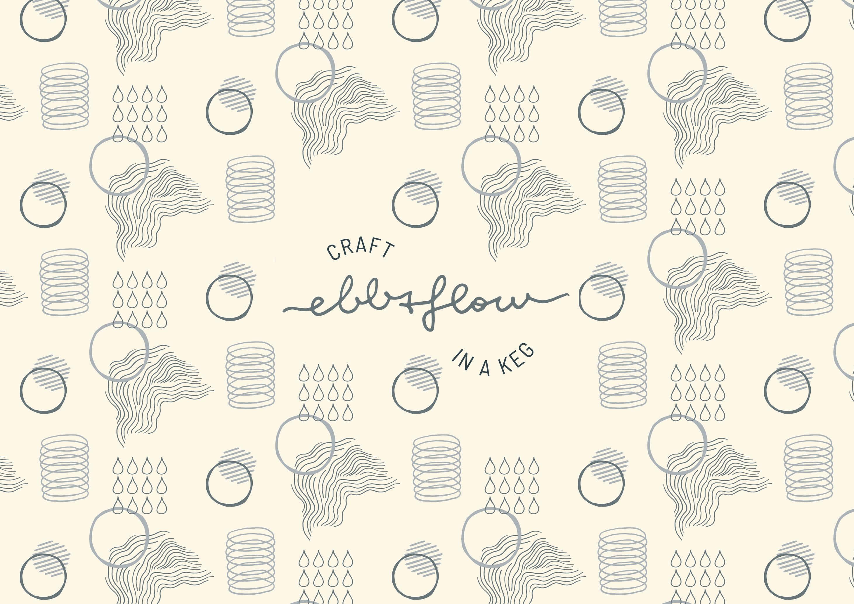 Ebb&Flow Keg Brand Identity - Design by Magdalena Weiss
