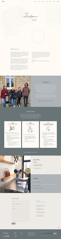 Ebb & Flow Keg Web Design & Development by Magdalena Weiss
