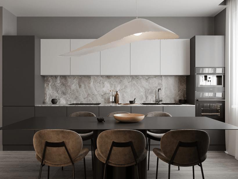 a beautiful single-wall kitchen from china