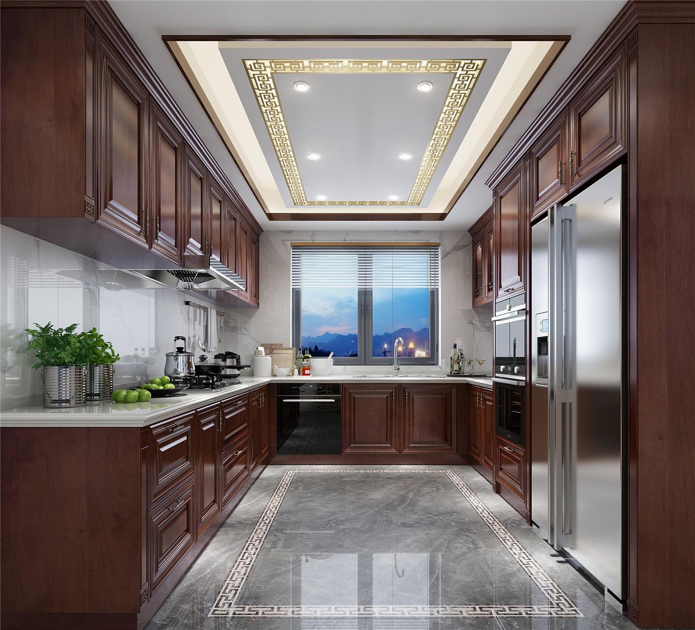 a modern u-shaped kitchen from china
