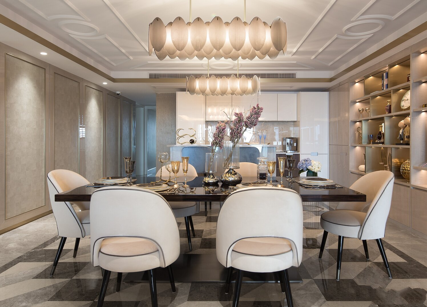 a dining room from China