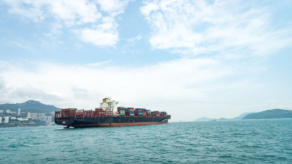 A ship with containers