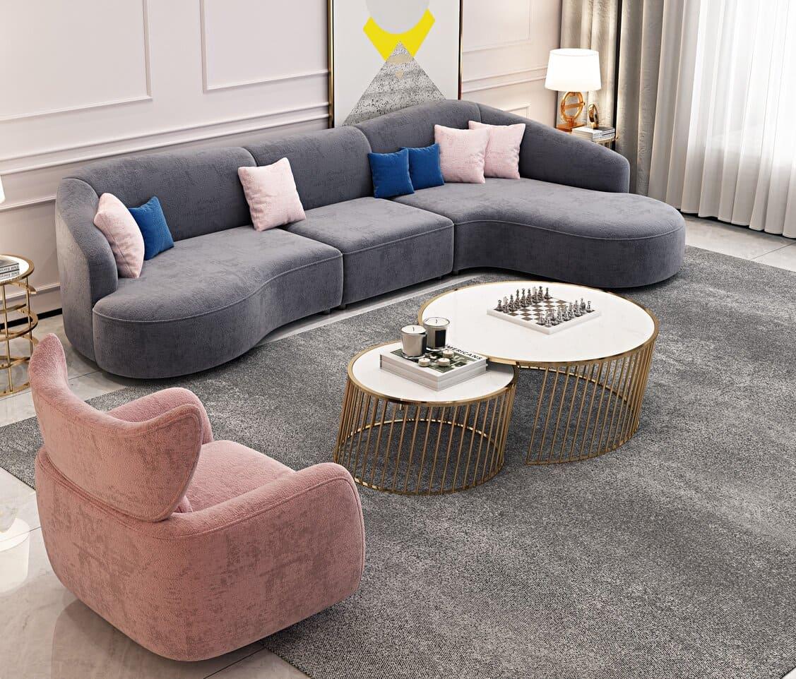 curved edges sofas