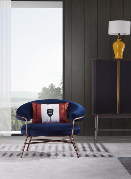 velvet leisure chair