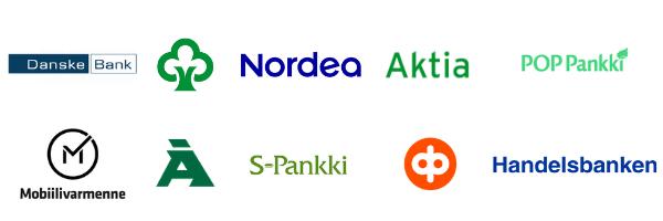 Kuva eri pankkien logoista