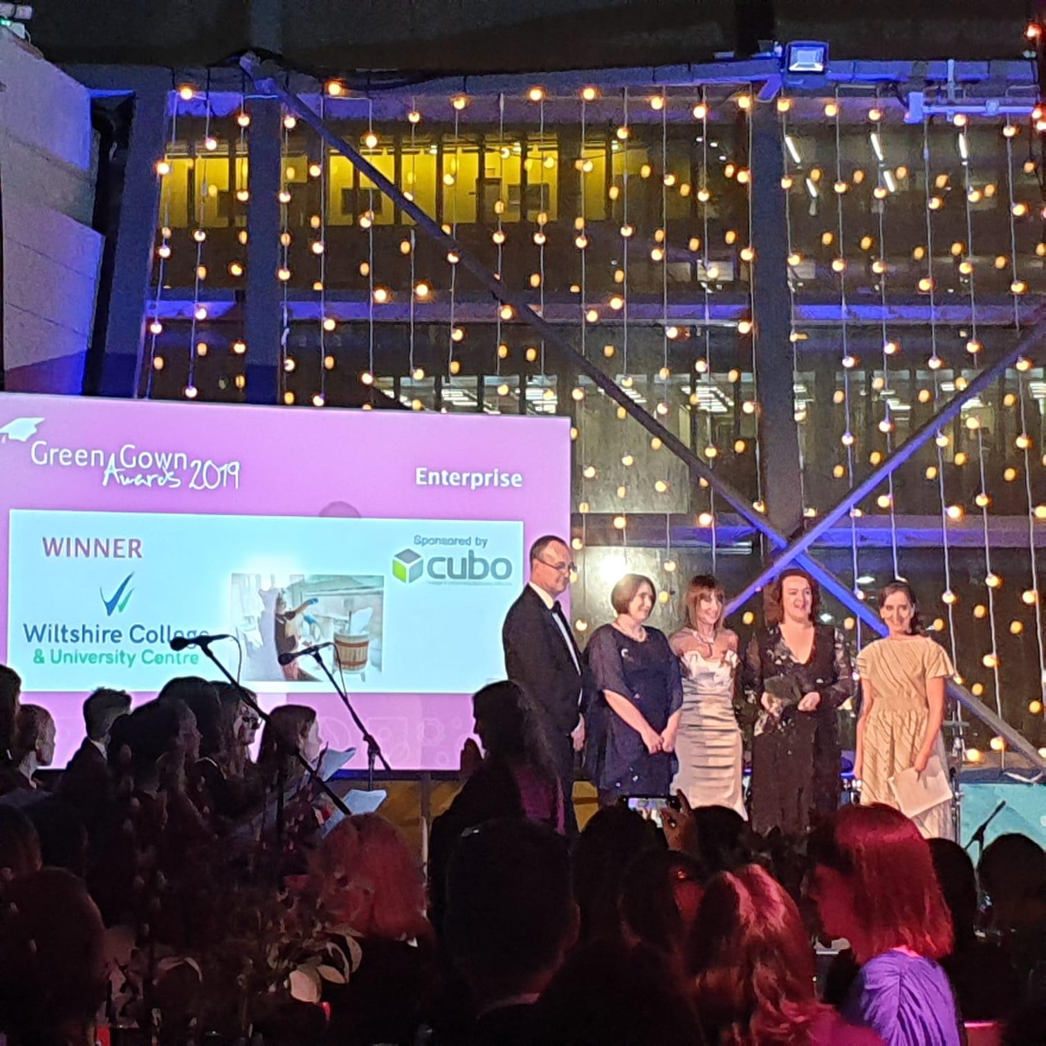 Photo (SOS-UK): Wiltshire College, Green Gown Enterprise Award Winners, 2019