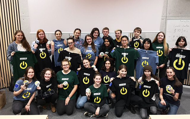 University of York volunteers holding up their Student Switch Off t-shirts