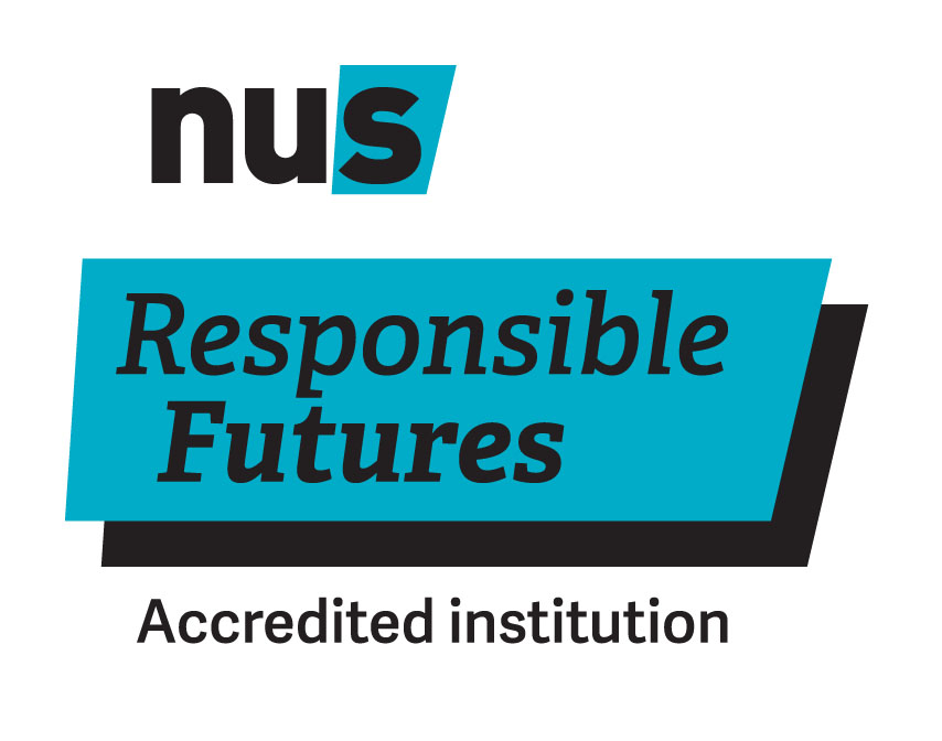 The Responsible Futures mark, which reads: NUS Responsible Futures, accredited institution