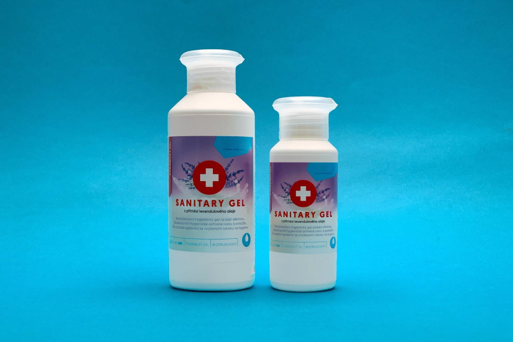 Vyrábíme etikety na sanitární gely