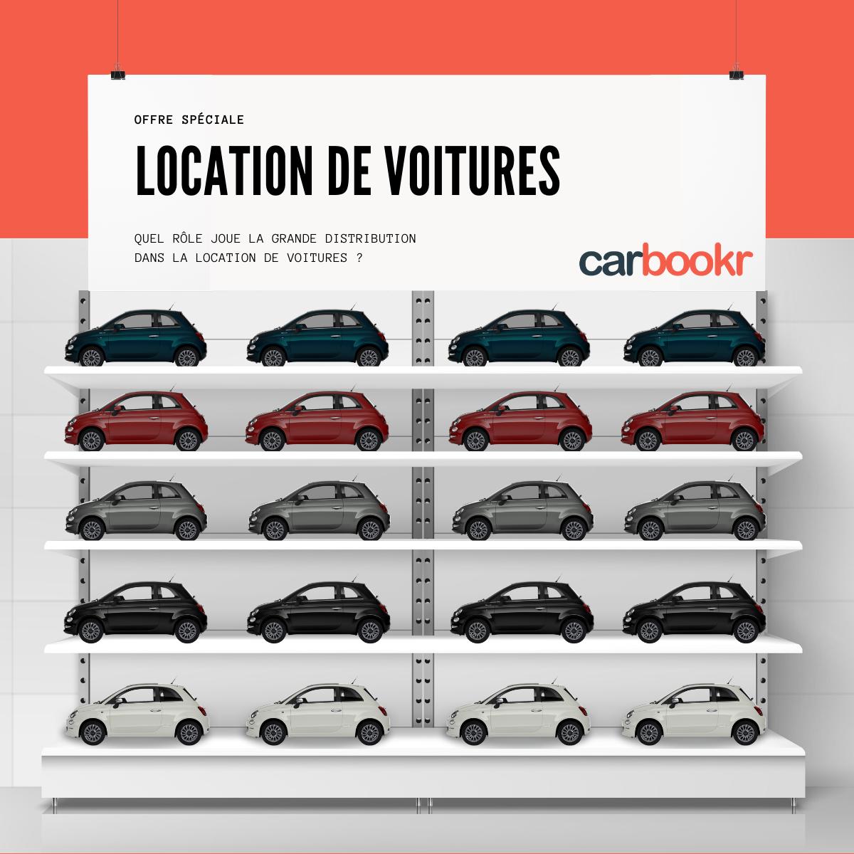 La grande distribution & la location de voitures