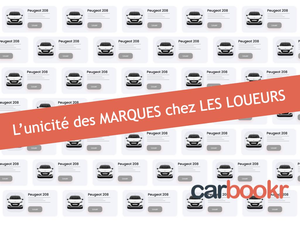 Les marques automobiles chez les loueurs