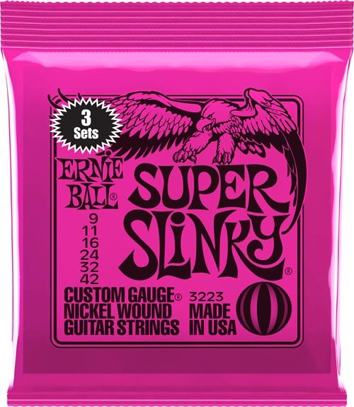 3-Pack Super Slinky Ernie Ball 9-46