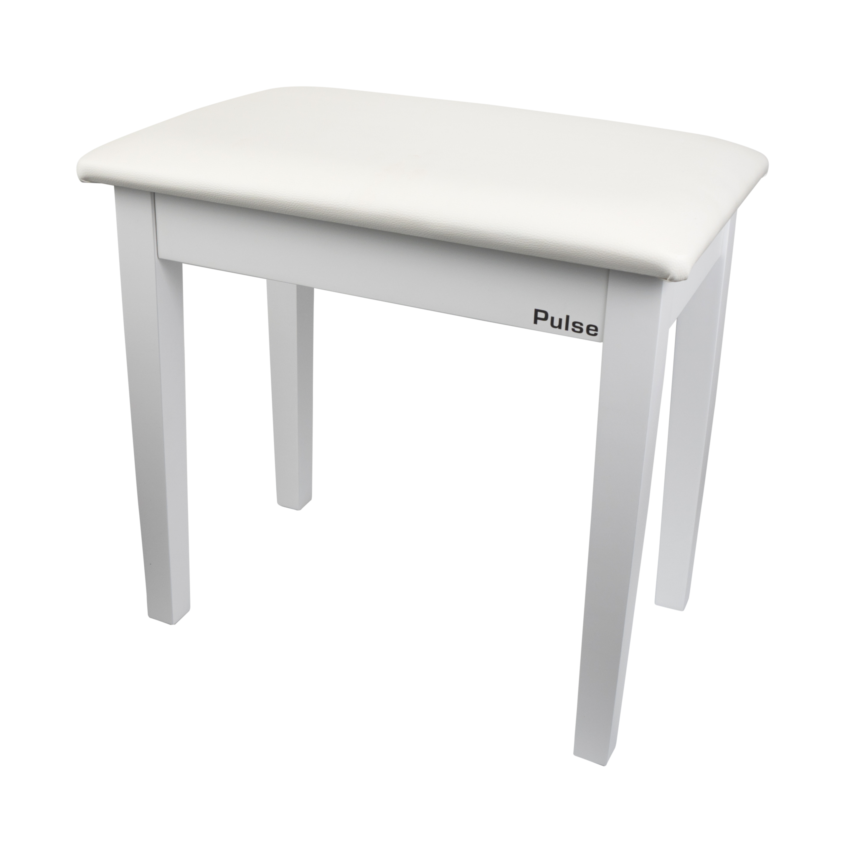 Pulse Pianostol vit matt med notlåda