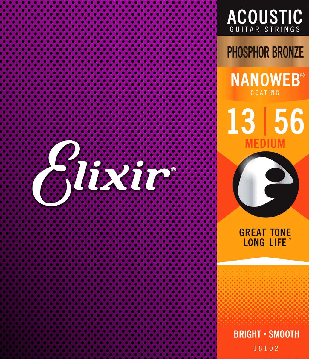 Elixir Nanoweb Phosphor Bronze . 013-.056 Medium, set