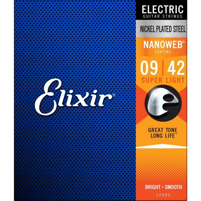 Elixir Nanoweb Elgitarr Super Light .009-.042, set