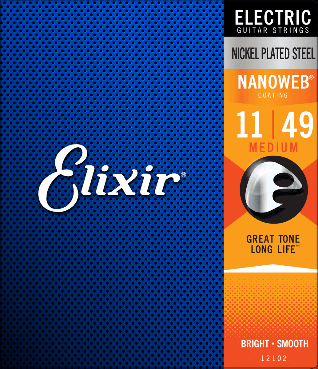 Elixir Nanoweb Elgitarr Medium 11-49, set